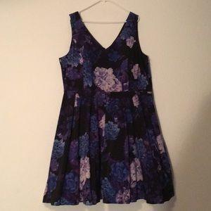 NWT Purple Floral Dress (24W)